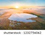 aerial shot of foggy morning at ... | Shutterstock . vector #1232756062