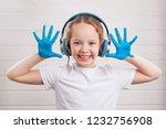 beautiful little girl in... | Shutterstock . vector #1232756908