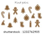 find pairs of identical... | Shutterstock .eps vector #1232762905