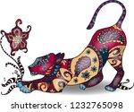 beautiful colorfull zentangle... | Shutterstock .eps vector #1232765098
