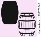 old wooden barrel vector... | Shutterstock .eps vector #1232765662