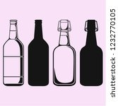 set bottle of beer vector... | Shutterstock .eps vector #1232770105