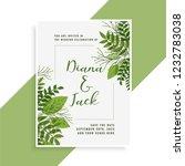 wedding invitation card design... | Shutterstock .eps vector #1232783038