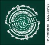 think big chalkboard emblem... | Shutterstock .eps vector #1232785498