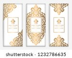 luxury golden packaging design... | Shutterstock .eps vector #1232786635