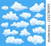 set of catoon clouds isolated... | Shutterstock .eps vector #1232789395