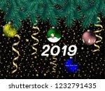 vector illustration new year... | Shutterstock .eps vector #1232791435