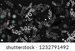percent sings on dark... | Shutterstock .eps vector #1232791492