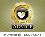 gold shiny badge with love... | Shutterstock .eps vector #1232793145