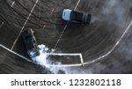 aerial view drift battle  two... | Shutterstock . vector #1232802118
