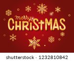 gold merry christmas card... | Shutterstock .eps vector #1232810842