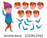 boy  child  kid  teen vector.... | Shutterstock .eps vector #1232812462