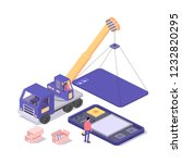 mobile repair and service... | Shutterstock .eps vector #1232820295