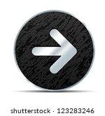 Right Arrow button - stock vector