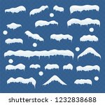 set of ice caps. snowballs ... | Shutterstock .eps vector #1232838688
