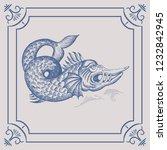 mythological vintage sea... | Shutterstock .eps vector #1232842945