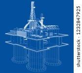 offshore oil rig drilling...   Shutterstock .eps vector #1232847925
