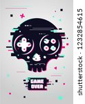 game over glitchy sign with... | Shutterstock .eps vector #1232854615