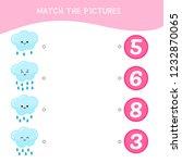 counting educational children... | Shutterstock .eps vector #1232870065