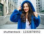 happy beautiful young cute... | Shutterstock . vector #1232878552