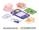 mobile repair and service...   Shutterstock .eps vector #1232884105