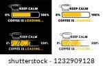 caffeine is loading please wait ... | Shutterstock .eps vector #1232909128