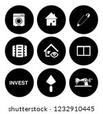real estate icons set   house... | Shutterstock .eps vector #1232910445