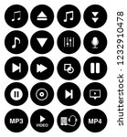 sound music icons set   audio... | Shutterstock .eps vector #1232910478