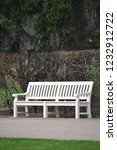 white wooden bench in park ... | Shutterstock . vector #1232912722
