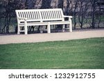 white wooden bench in park ... | Shutterstock . vector #1232912755