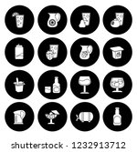 drink icons set   vector glass... | Shutterstock .eps vector #1232913712