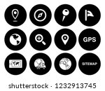 map pin icons set   navigation... | Shutterstock .eps vector #1232913745