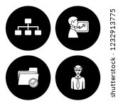 people management icons set  ... | Shutterstock .eps vector #1232913775