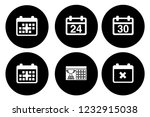 calendar icons set   time  ... | Shutterstock .eps vector #1232915038