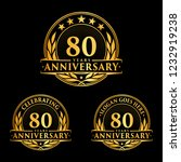 80 years anniversary set. 80th... | Shutterstock .eps vector #1232919238