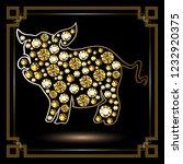 illustration of earth pig ... | Shutterstock . vector #1232920375