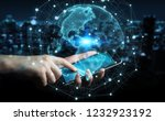 businessman on blurred... | Shutterstock . vector #1232923192