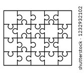 20 white puzzles pieces... | Shutterstock . vector #1232932102