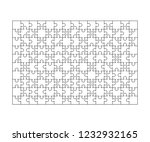 150 white puzzles pieces... | Shutterstock . vector #1232932165