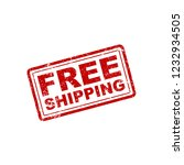 free shipping stamp   Shutterstock .eps vector #1232934505