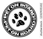 pet on board rubber stamp | Shutterstock .eps vector #1232935102