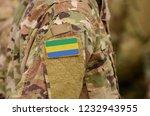 gabonese republic flag on...   Shutterstock . vector #1232943955