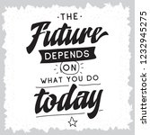 inspirational quote  motivation....   Shutterstock .eps vector #1232945275
