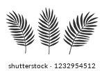 set of leaves. vector.... | Shutterstock .eps vector #1232954512