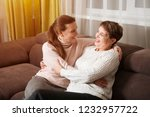 happy senior lady mother and... | Shutterstock . vector #1232957722