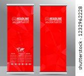 roll up business brochure flyer ... | Shutterstock .eps vector #1232962228