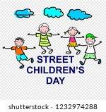 street childreen's day  poster | Shutterstock .eps vector #1232974288