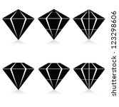 diamond vector illustration in black on white background
