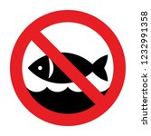 no fishing sign. no fishing... | Shutterstock .eps vector #1232991358