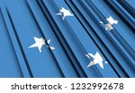 abstract flag of micronesia. 3d ... | Shutterstock . vector #1232992678